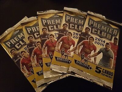 5 x packs of topps EPL premier league club soccer cards