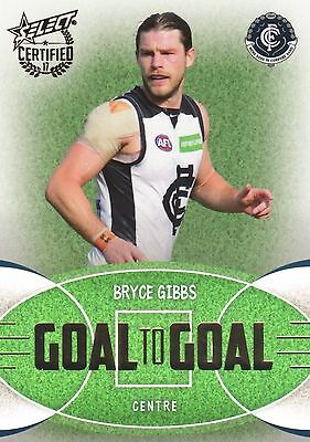 2017 Select Certified BRYCE GIBBS Carlton Blues  Goal to Goal Card