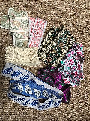 Bundle of french braids and ribbons some vintage