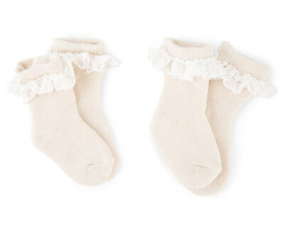 Pumpkin Patch Baby/Toddler Lace Socks 2-Pack - Sheer Cream