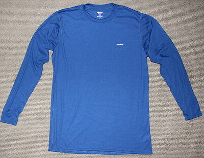 Patagonia Capilene Base Layer Mens Size Xl Blue Hiking Skiiing Outdoor T-Shirt