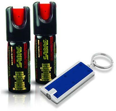 (2) Sabre Pepper Spray Self Defense .54 oz. Police Keychain 25 Shots at 10+ ft.