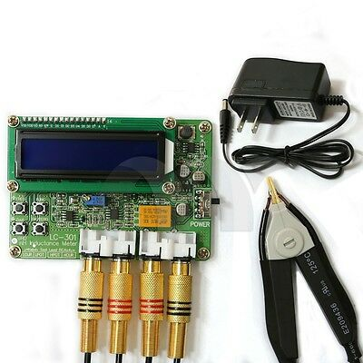 New LC301 SMD NH Inductance Tester 0.1NH-50UH Resolution four RCA jacks