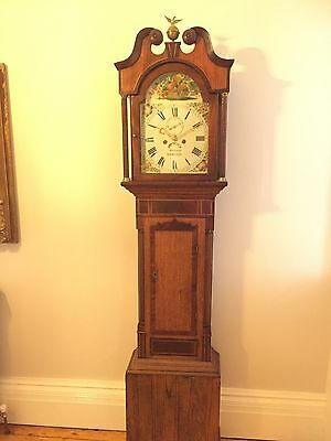 A long case clock by Marshall Wainfleet in a mahogany inlaid case, circa 1820