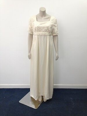 Sarah Saunders Designs - Vintage Ivory Empire Short Sleeve Wedding Dress (X502)
