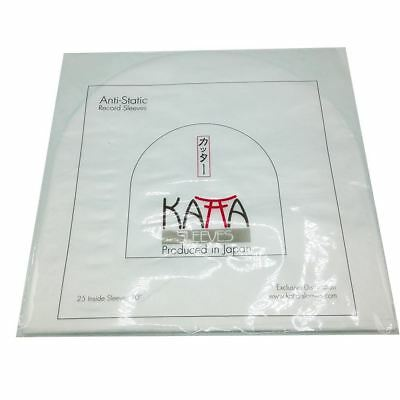 "Katta 10""Anti-Static HDPE Poly Inner Vinyl LP / EP Record Sleeves (Pack of 25)"