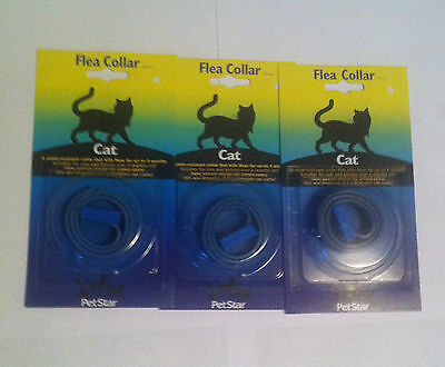 3 xcollars CHEAPEST @ EBAY, CAT FLEA COLLAR, WATERPROOF UP 2 4 MONTHS PROTECTION
