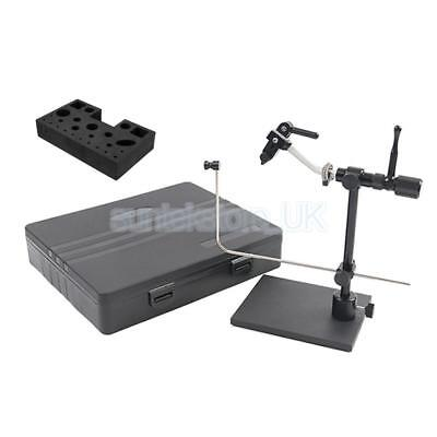 Fly Tying Vise Metal Fly Tying Vice Hook Tool & Tools Caddy for Fly Fishing