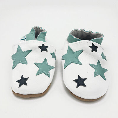 *SECONDS* BOYS 12-18 MONTHS - Dotty Fish Soft Leather Baby and Toddler Shoes
