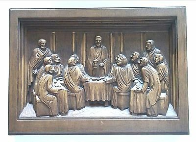 Karl Rothammer Religious Carving Plate - The Last Supper