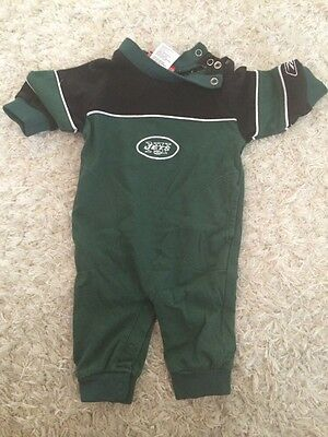Ny Jets Infant Baby One Piece 3-6 Months Football Jersey