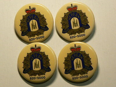 Canada Nepean Police  Force, Pinback Buttons,  4.2g, 38mm, Lot of 4 #G6059