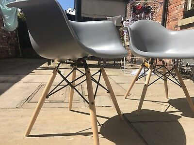Eames Style Carver Dining Chairs. Pair. Perfect Condition.