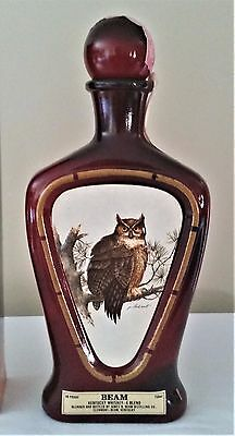 Empty Beam's Collector's Edition Bottle Xvii The Horned Owl W/original Box