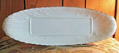 Beautiful & Vintage Lenox Fine Ivory China Butter Tray W/24Kt Accents  Usa.