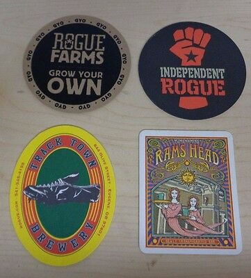 PNW Beer coasters collection of 4