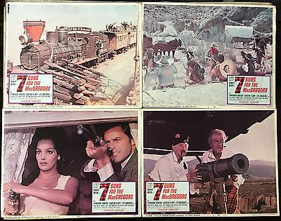 7 Guns For The MacGregors, Robert Wood, 1967, Lobby Card Set of 8