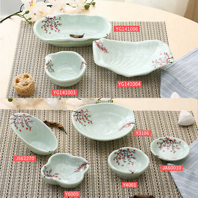 Small Shallow Serving Dishes Japanese Style Sauce Dip Side Wasabi Sushi Plates
