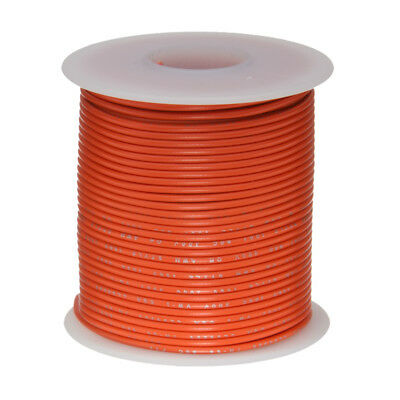 "18 AWG Gauge Stranded Hook Up Wire Orange 25 ft 0.0403"" UL1015 600 Volts"