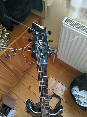 Cort electric guitar with hercules stand and marshall amph
