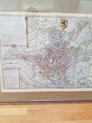 Antique map Gent -  Carlo V period -   Flanders - Europe