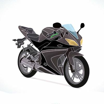 Full 20 Piece Fairing Panel Kit Grey/Black for YAMAHA YZF-R125 08-13