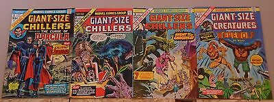 Giant-Size Chillers featuring Dracula #1, Chillers #2 & 3, Creatures #1 lot of 4