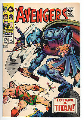 Avengers #50  8.0/VF  1st Appearance of Typhon, Hercules Leaves the Avengers