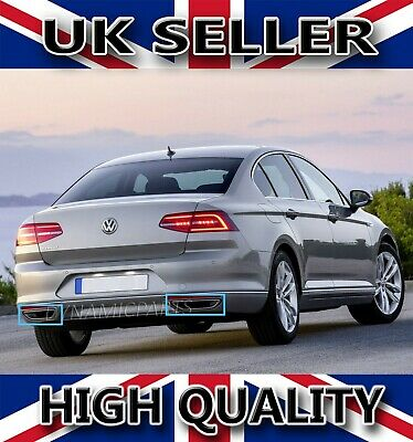 Vw Passat B8 Chrome Exhaust Deflector Frame 2Pcs Stainless Steel 2015 Onwards
