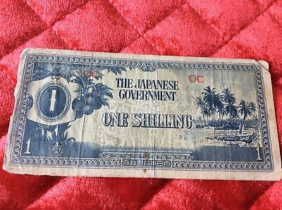 The Japanese Government One Shilling Oceania Banknote  CIRCULATED