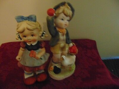 Vintage  Made In Japan Children Figurines 2 pc  #12