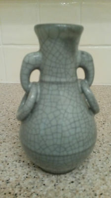 Chinese Song or Yuan Guan Kiln Small Pear Shaped Vase