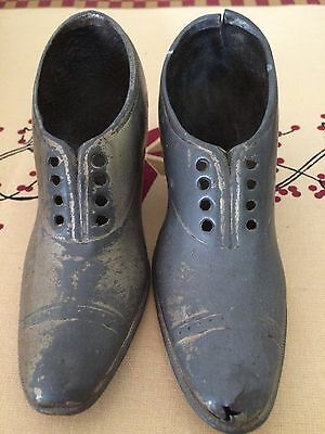 Antique Pewter Shoes Very Old