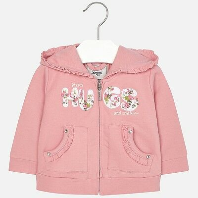 Mayoral Infant Girl Casual Hoodie in Blush ( Aged 12,18,24 and 36 months)