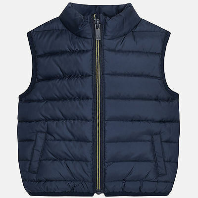 Mayoral Infants Boys Padded Gilet in Navy (Aged 12 to 36 months)
