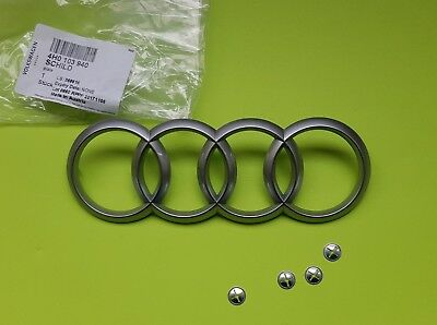 Genuine Audi A4 A5 A6 A8 Q5 Q7 S4 RS4 Engine Cover Emblem Logo 4H0103940 165x57