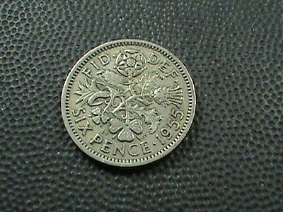 GREAT  BRITAIN    6  Pence    1955