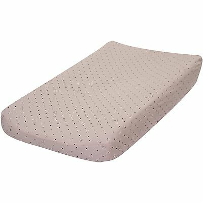 Go Mama Go Designs Pink & Chocolate Polka Dot Cotton Changing Pad Cover NEW
