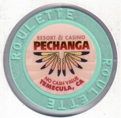 1994 Pechanga Casino, Temecula, CA., Green Roulette Poker Chip, #399