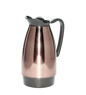 Service Ideas CGC101CP Classic Carafe, 1 L, Copper with Black