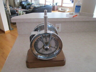 Chrome On Brass Yacht Telegraph Glascow 1920/30