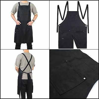 Split-Leg Waxed Canvas Apron Adjustable to XXL Size Utility Apron with Pockets