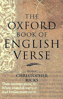 The Oxford Book of English Verse,  - Hardcover Book NEW 9780192141828