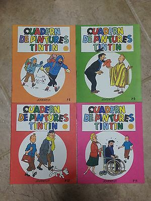 Lote Lot 4 Tintin Cuaderno Pintar - Album A Colorier - Painting Book - Catalan
