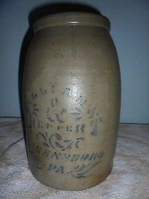 WILLIAMS & REPPERT stoneware ...Very nice 1 GAL crock...excellant cond