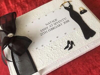 Birthday Guest Book Personalised 18th 21st 30th 40th 50th 60th 70th Gift Boxed