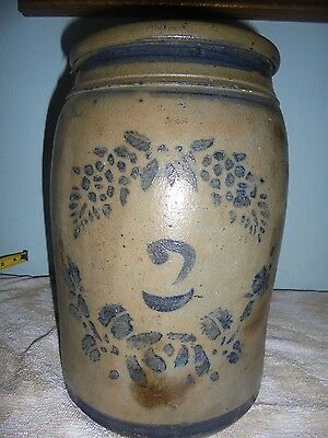STONEWARE  CROCK. 2gallon PENNSYLVANIA MADE...(priced to sell)