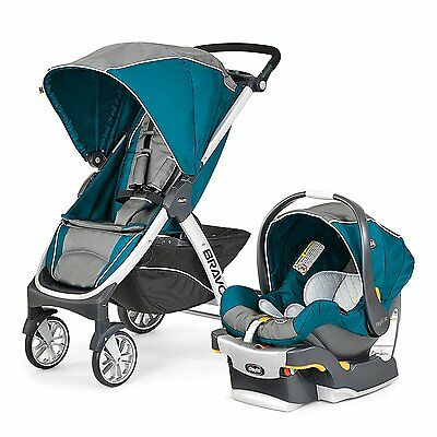 Chicco Bravo Trio 3 in 1 Single Travel System w/ 30 Car Seat and Base - Polaris