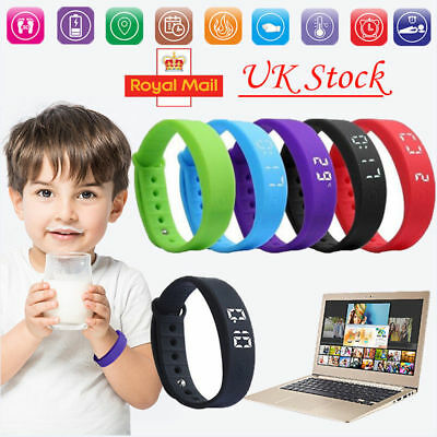 Bracelet Kid Children Watch Activity Tracker Fitbit Style Pedometer Fitness Band