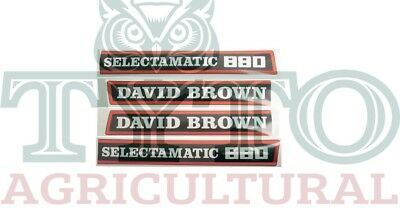 David Brown Tractor 880 Selectamatic Bonnet Decal Kit Excellent Quality!